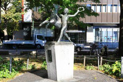 札幌の大通公園3丁目にある「牧童」という銅像
