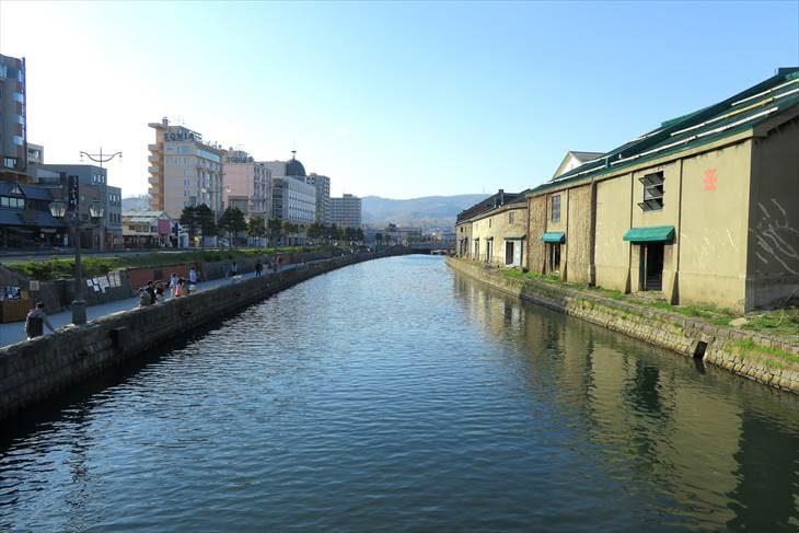 浅草橋から見た小樽運河