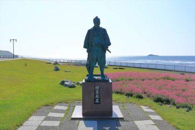 日本最北端の地の碑 間宮林蔵の像